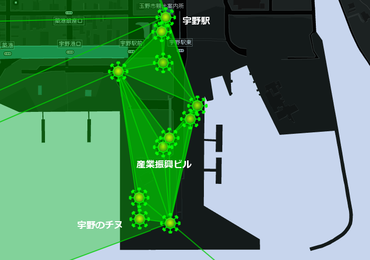 ギガフロート玉野勢力図宇野周辺(20141205)