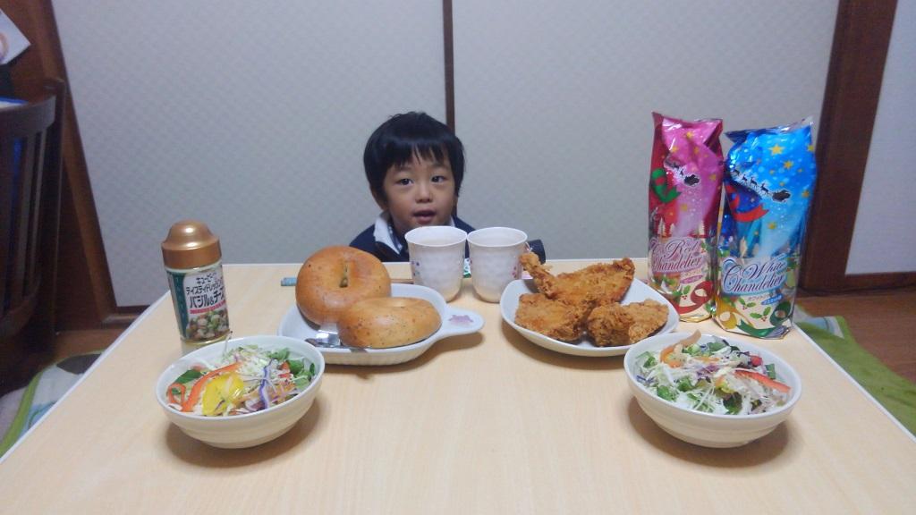 幸之助の3歳の誕生日会