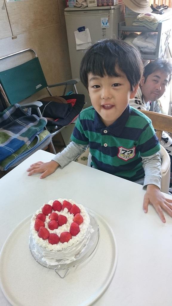 手作りケーキと息子と自分