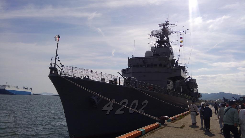 玉島ハーバーフェスティバル 海上自衛隊 訓練支援艦「くろべ」