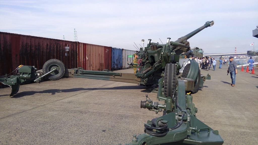 玉島ハーバーフェスティバル 155mmりゅう弾砲FH70