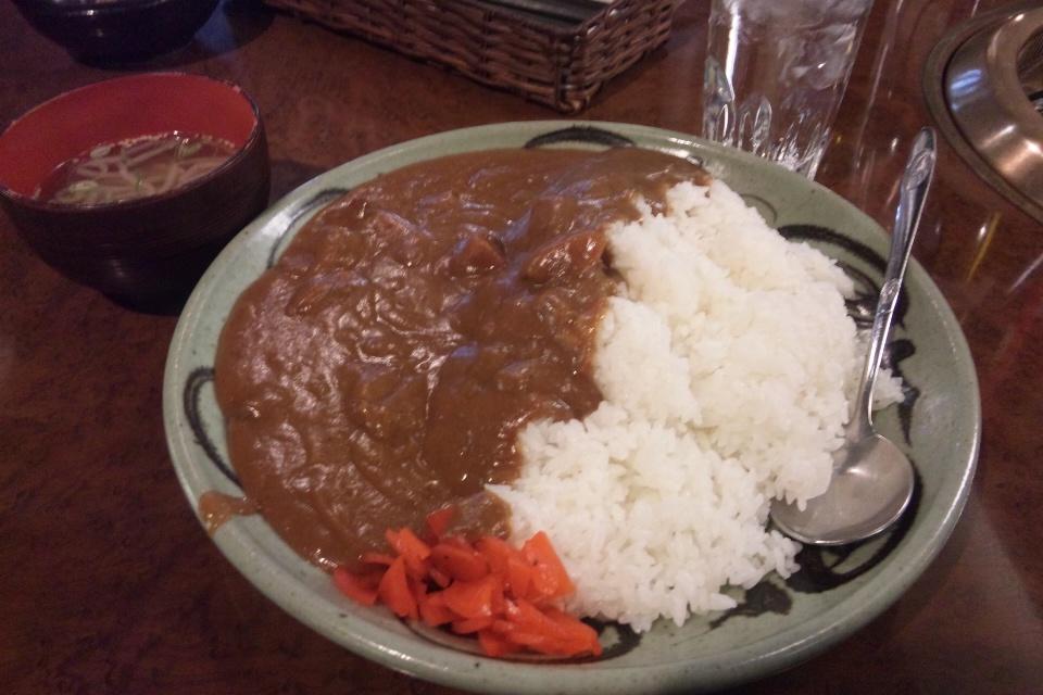 横濱焼肉 あぎゅうの大盛りビーフカレー