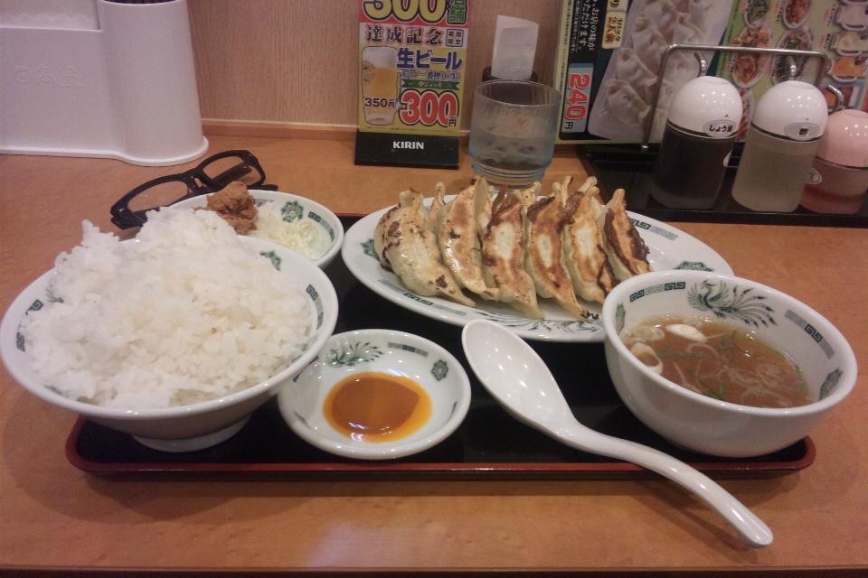 日高屋W餃子定食