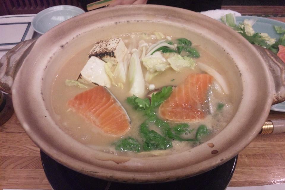 新宿の日本料理いさみ 石狩鍋