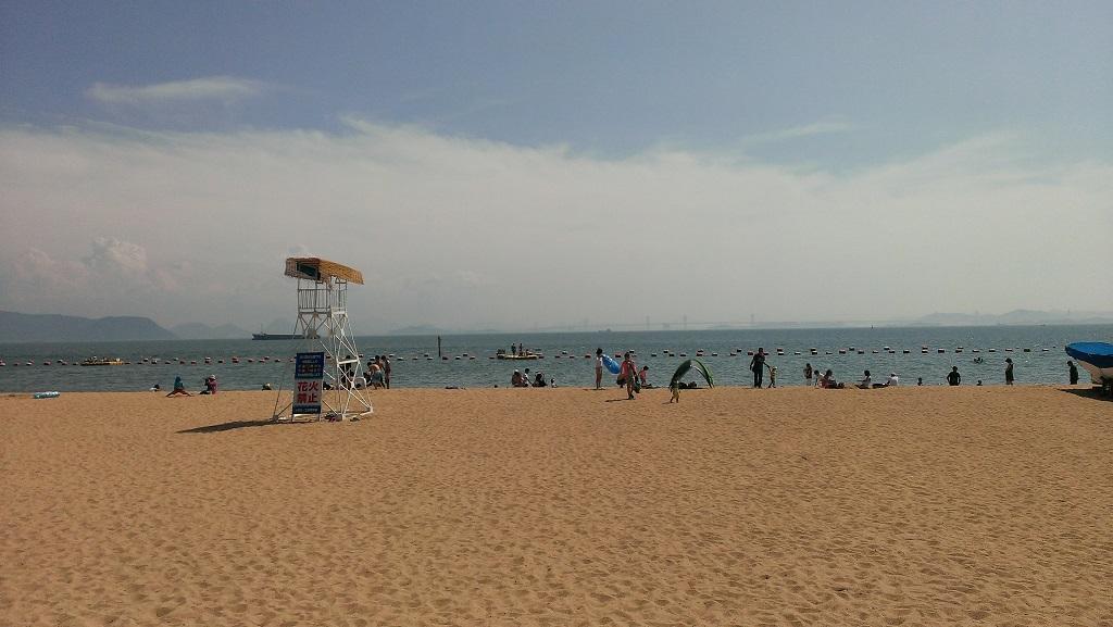 玉野市渋川の砂浜