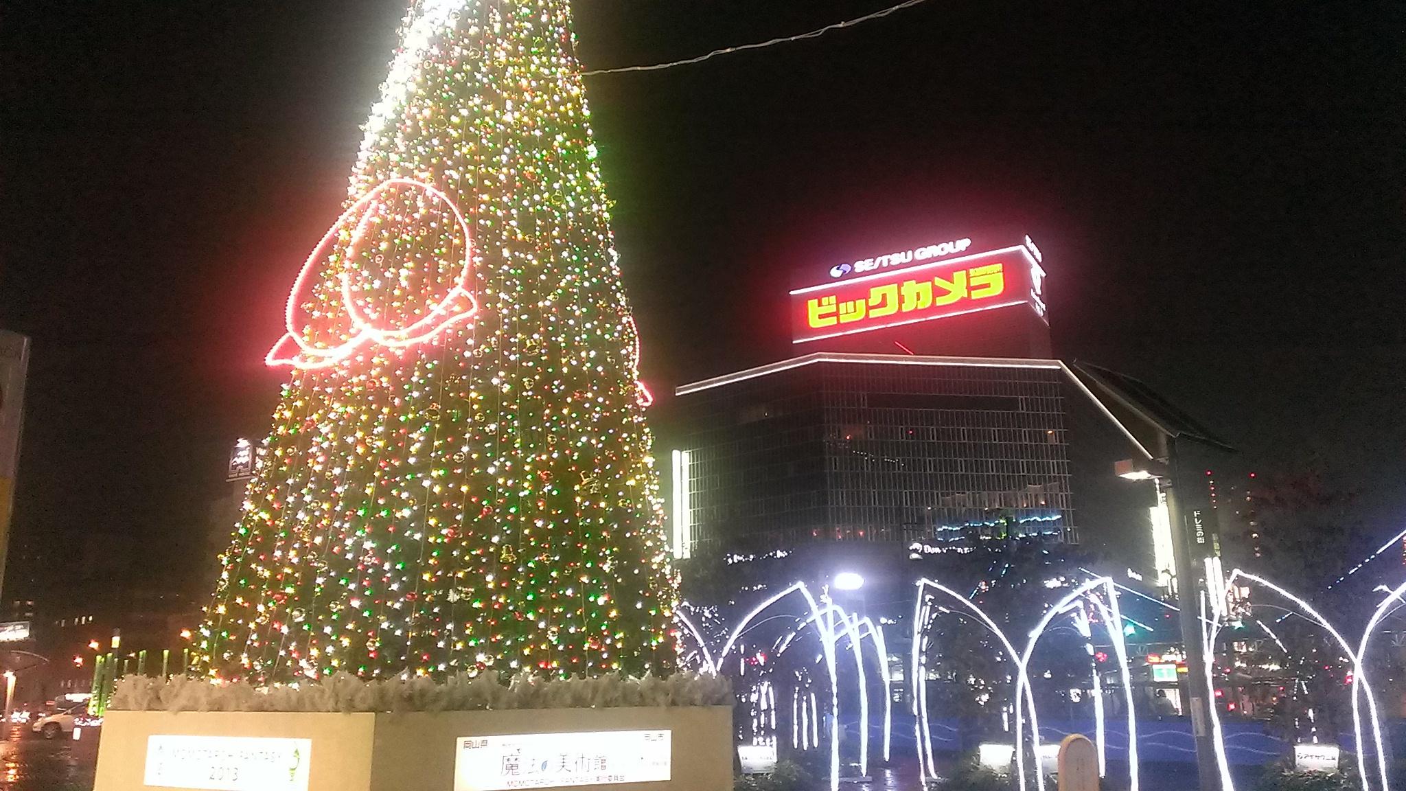 幻想的な大都会岡山のクリスマス