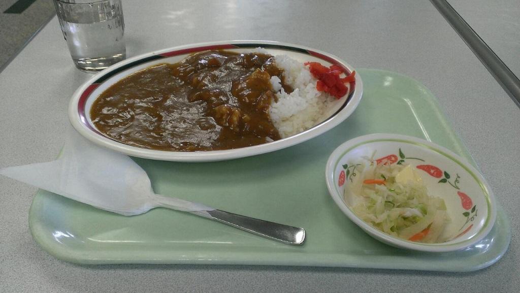 岡山運転免許センターのカレー