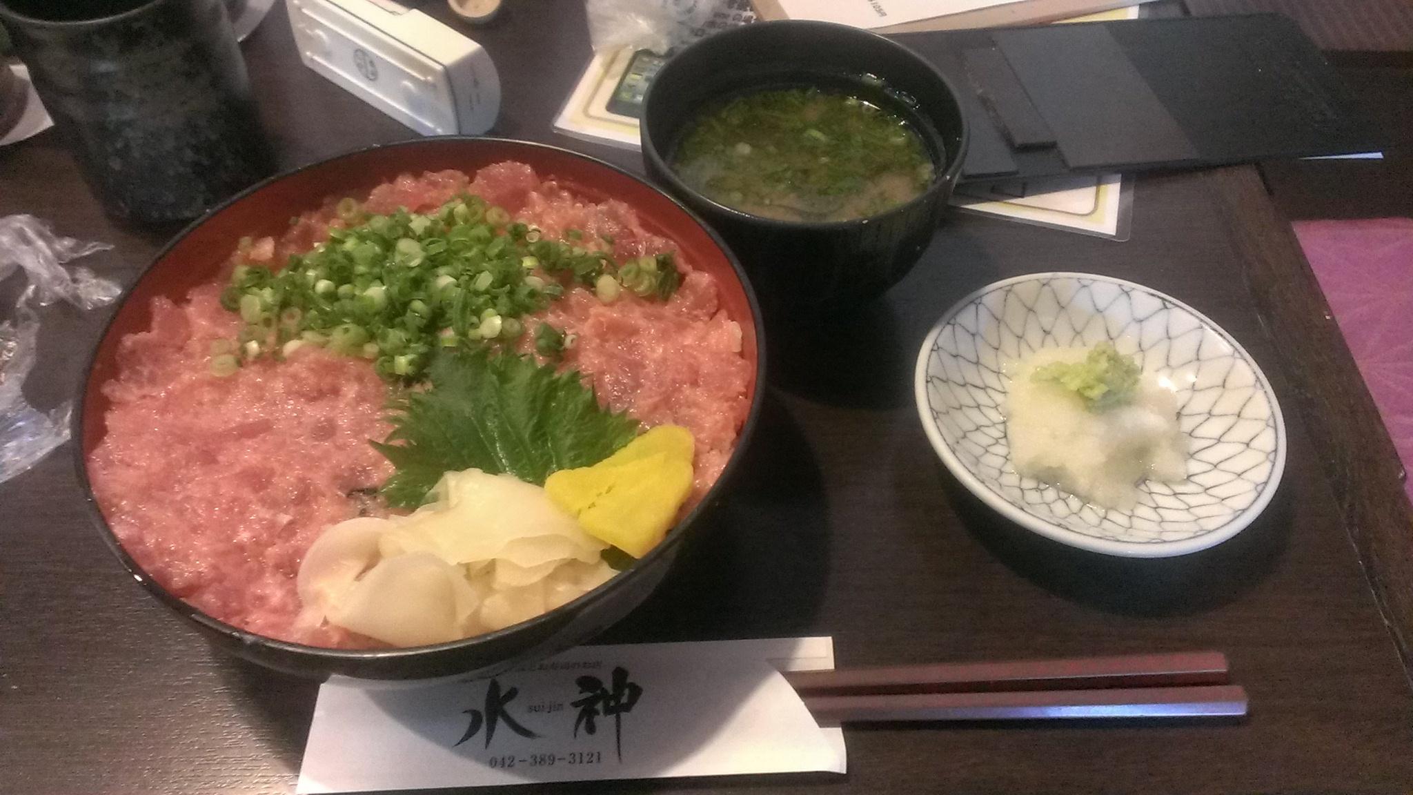 水神のネギトロ丼