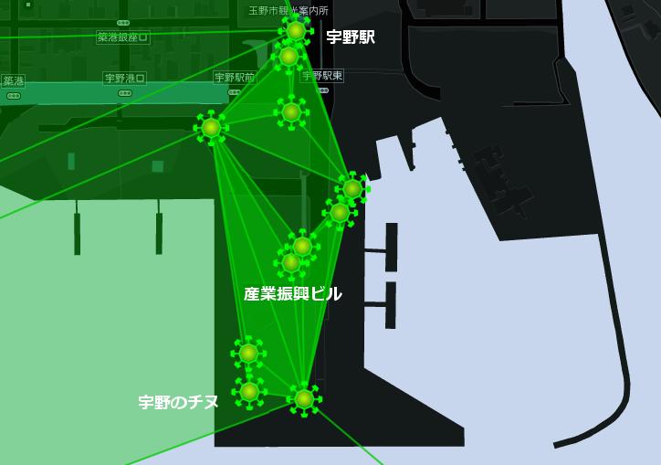 ギガフロート玉野勢力図宇野周辺(20141205)Ingress