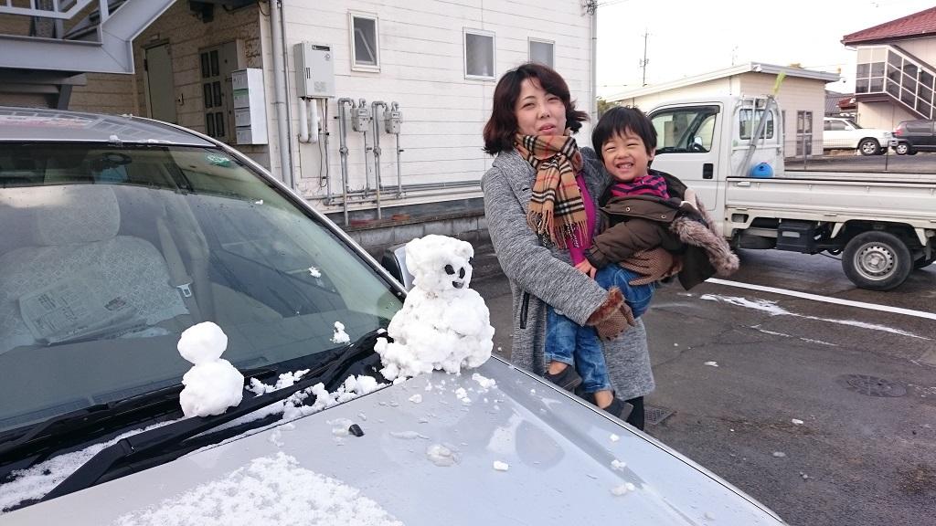 倉敷で積雪2017
