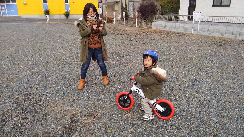 幸之助4歳の誕生日プレゼント「ペダル無し自転車」