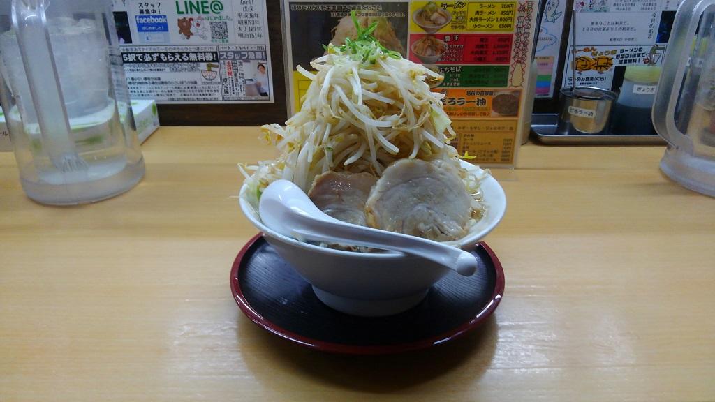 らーめん食楽(モヤシ4倍)