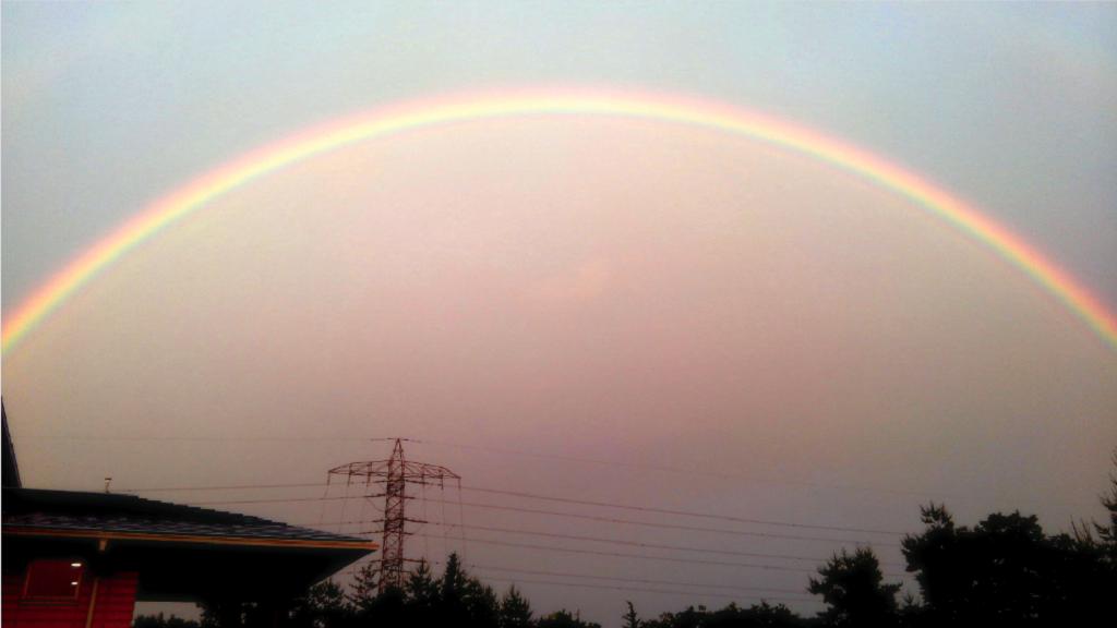 岡山最高の虹
